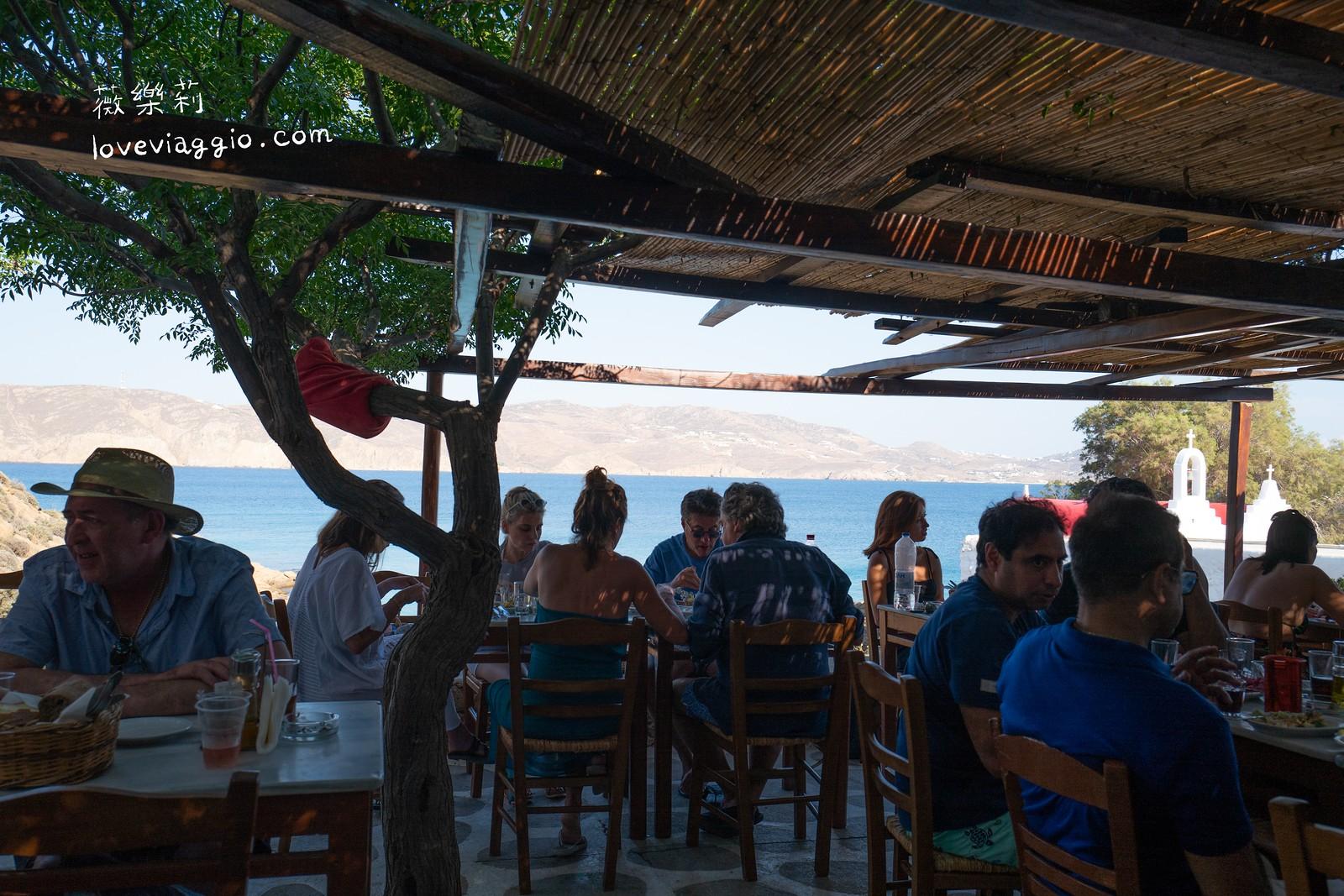 【希臘米克諾斯 Mykonos】KIKI's Tavern 隱藏人氣排隊餐廳 露天海景享用希臘海鮮料理 @薇樂莉 Love Viaggio   旅行.生活.攝影