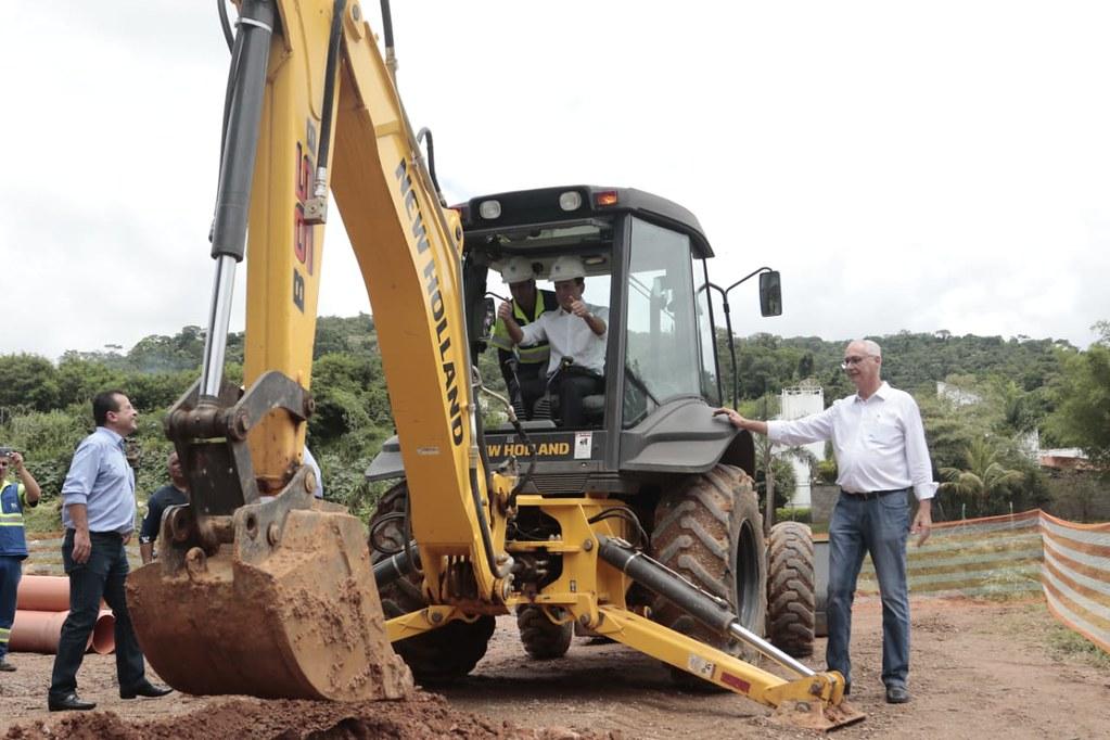 Inicio das obras de ampliação do sistema de coleta de esgotos em Itupeva