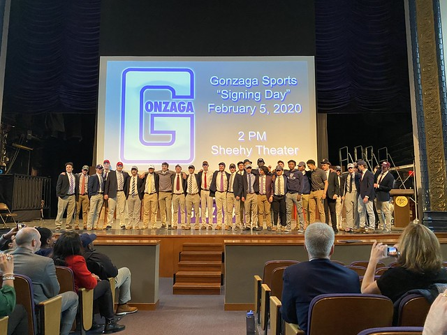 "Gonzaga Sports ""Signing Day"" 2020"