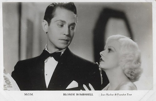 Jean Harlow and Franchot Tone in Bombshell (1933)