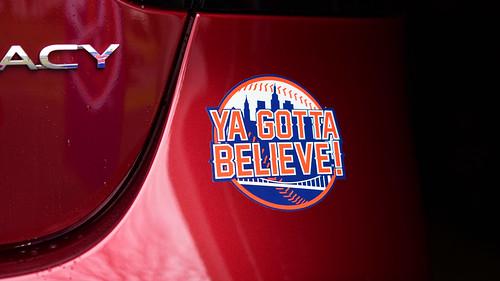 Ya Gotta Believe Sticker on 2020 Subaru Legacy Photo