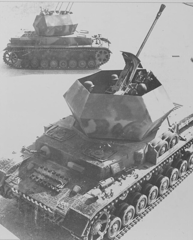 derpanzergraf: Flakpanzers Ostwind ( 1 x 37 mm gun) and Wirbelwind ( 4 x 20 mm guns)
