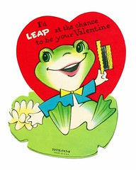 Vintage Child's Valentine Card - I'd Leap At The Chance To Be Your Valentine, Made In USA, Circa 1950s
