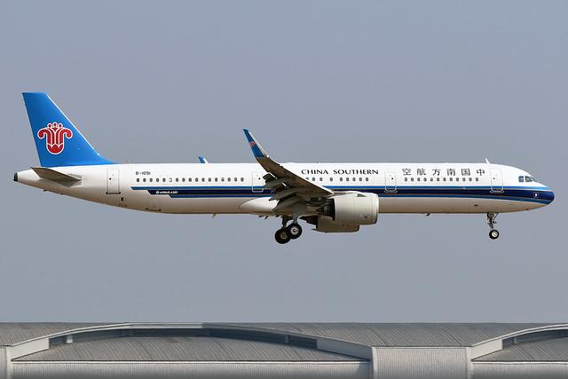 B-1091 China Southern Airlines Airbus A321-271N at Bangkok Suvarnabhumi Airport on 12 January 2020