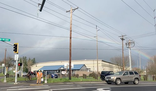 A rainbow @ Johnson Creek Blvd & Bell Ave