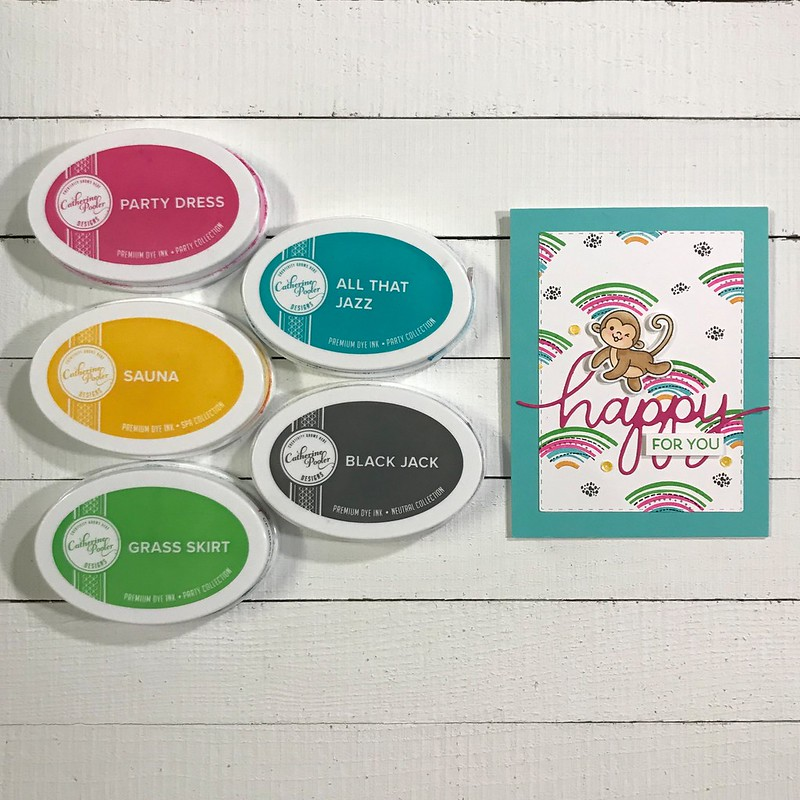 Happy For You CP Geo Curves Heffy Doodle Chimply the Best Jen Carter Color Combo