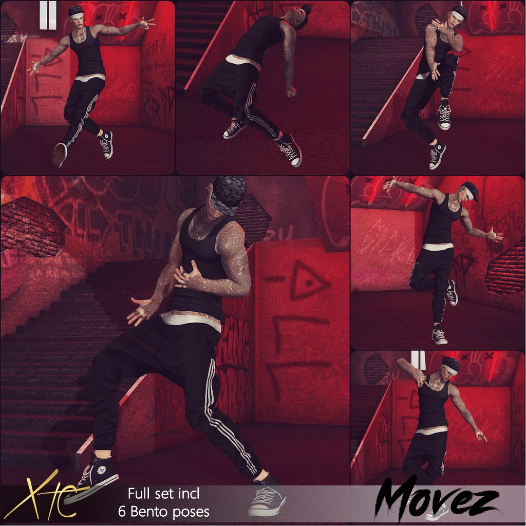 .Movez Pose Set. \ The Men Jail //