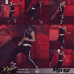 .Movez Pose Set. \ The Men Jail //