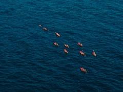 Kayacs from Dubrovnik walls