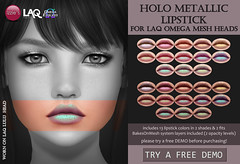 LAQ Holo Metallic Lipstick (for FLF)