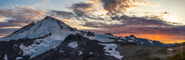 Mount Baker Sunset Pano