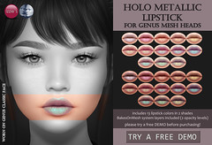 Genus Holo Metallic Lipstick (for FLF)