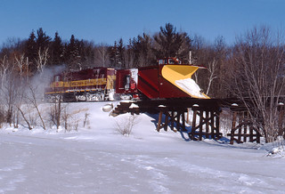 WC 1503 South, plow extra; north of Wausau, Wis; Jan 13, 1997_