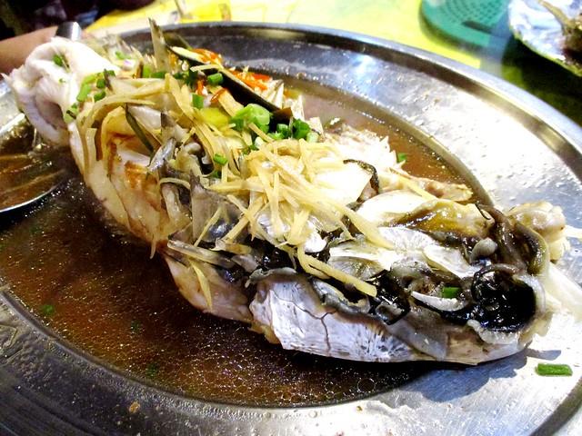 Ikan semah, steamed
