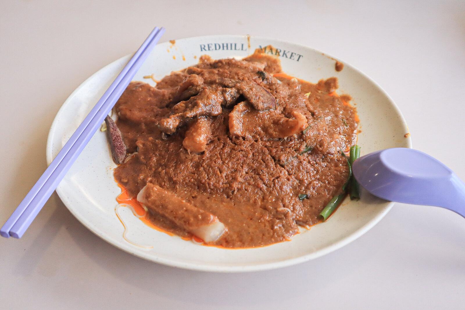 Bak Kee Teochew Satay Bee Hoon plate