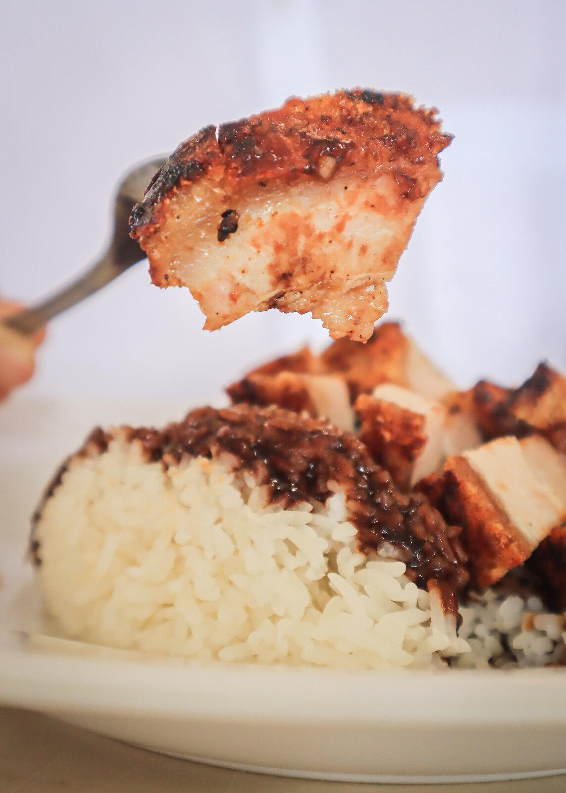 fei zai xiang shao la wanton mee roast pork