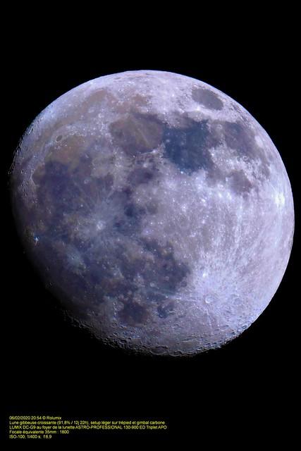 Vaureal-2020 / La Lune gibbeuse croissante (91,6% / 12j 22h)