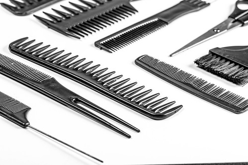 Hair combs and scissors. The concept of the barbershop | by wuestenigel