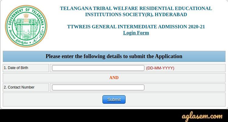 TTW RJC CET 2020 Application Form