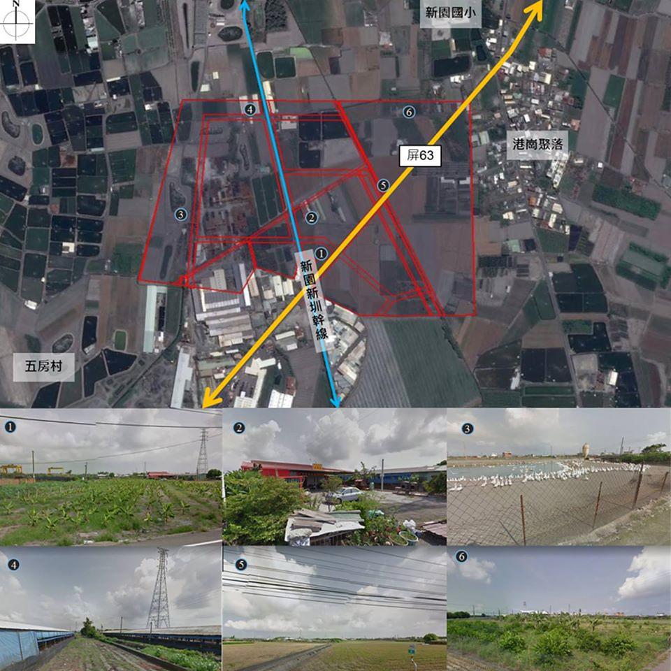 新園產業園區開發現況多為農耕地。取自經濟部工業局臉書
