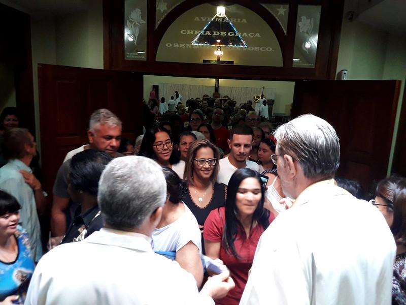 Paróquia Nossa Senhora do Rosário na Vila Rosália recebeu a visita do Padre Ubaldo Ripa, que em 2020 celebra 50 anos de vida sacerdotal.
