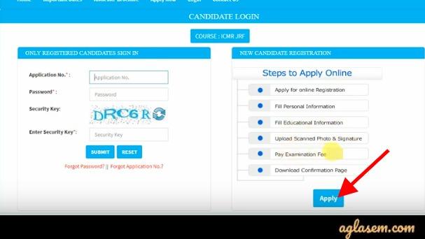 ICMR JRF 2020 Application Form