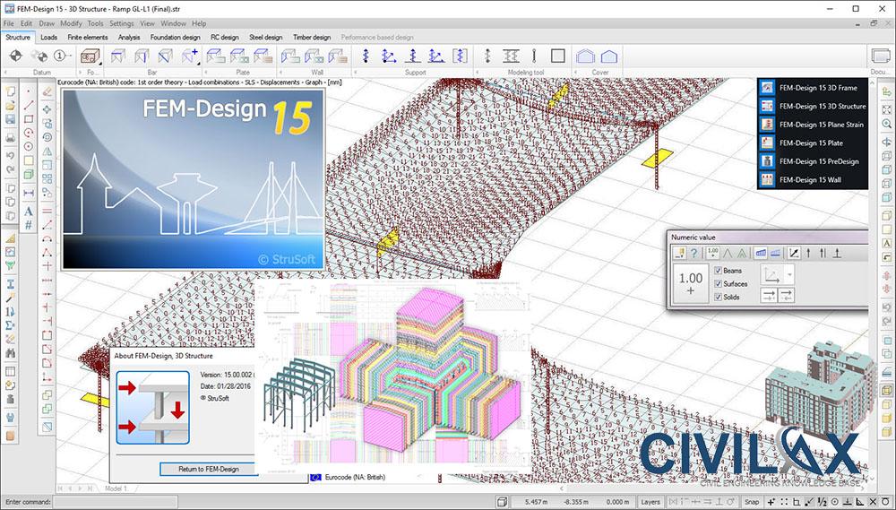 Working with StruSoft FEM-Design Suite 15 full license