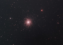 Great Star Cluster in Hercules or NGC 6205 and Galaxies IC4617 and NGC 6207