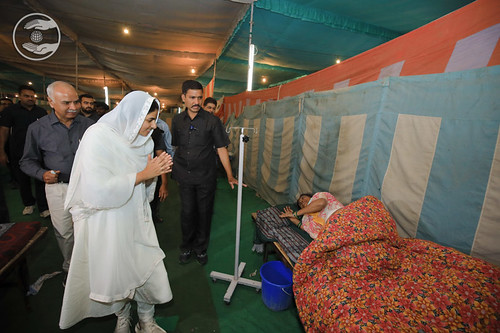HH blessed patients in Dispensary