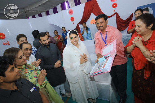 Satguru Mata Ji blessing the Press & Publicity Department
