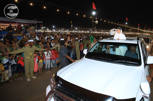 HH arrival at the Samagam Ground