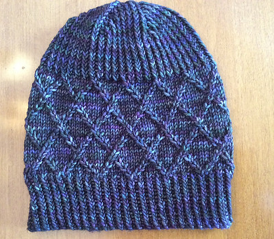 Ann (annvanwagner) just finished this Myra Hat by Knox Mountain Knit Co. using Malabrigo Rios. Gorgeous twisted rib and trestle-inspired texture!