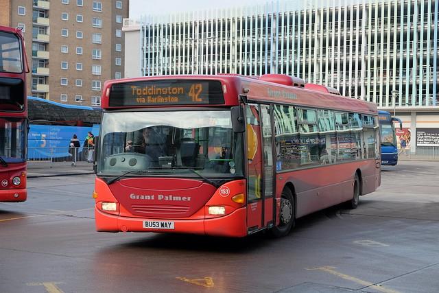 Grant Palmer Ex-Centrebus Scania L94UB Omnicity 153 BU53WAY in Bedford