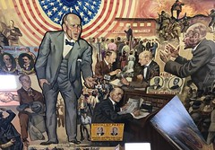 Mural at home of Eugene V. Debs in Terre Haute, Indiana