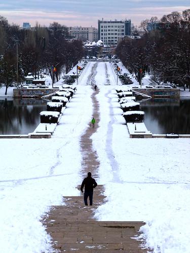 landscape bucurești românia sector4 carol park winter snow view