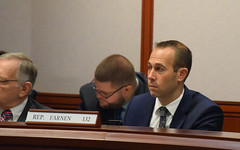 State Rep. Brian Farnen sits in his first Education committee meeting