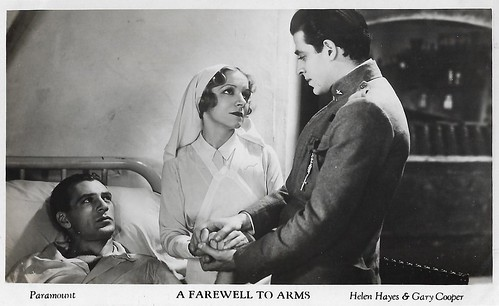 Gary Cooper, Jack La Rue and Helen Hayes in A Farewell to Arms (1932)
