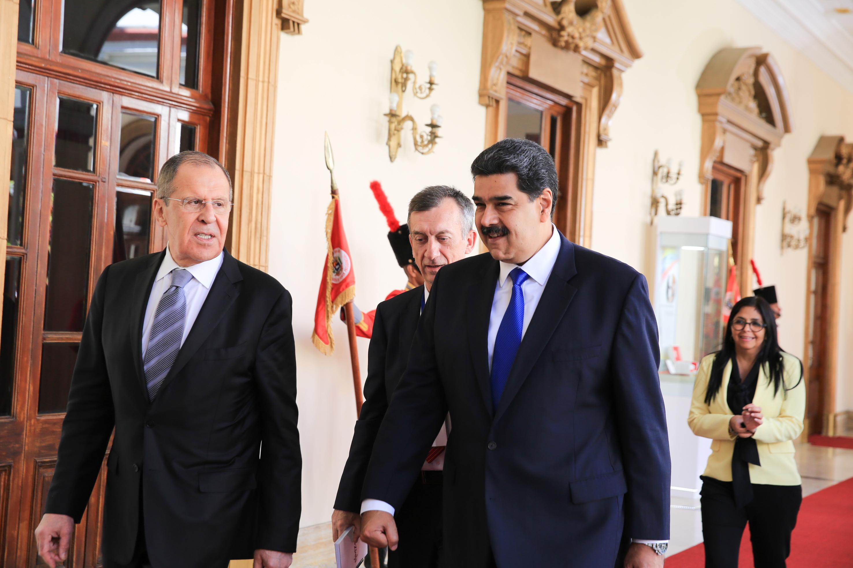 Presidente Maduro recibe al canciller de Rusia en Miraflores