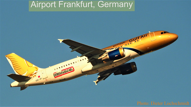 Gulf Air, just started in Frankfurt am Main, Germany - Febr. 07, 2020