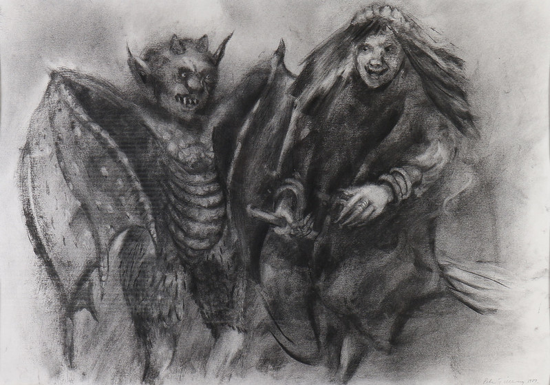 "Peter Tillberg - ""Rabbi Leib and the witch Kunigunda"", 1989"