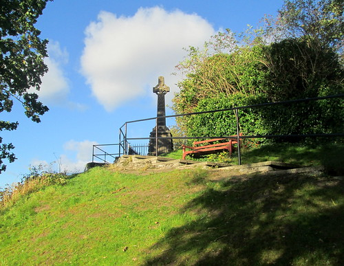 Wooler War Memorial from Path