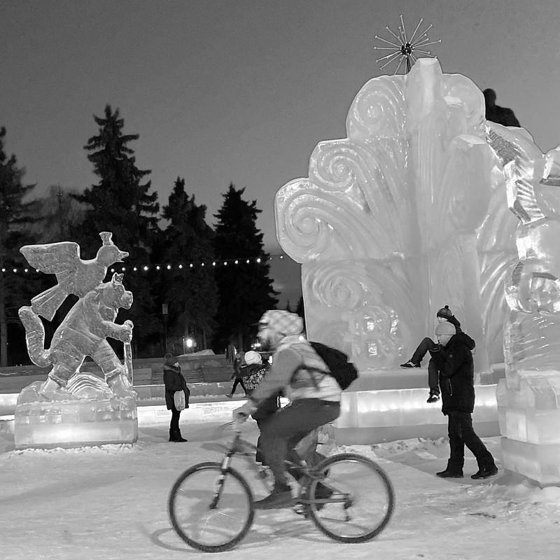 Ледяной городок Чердачинска