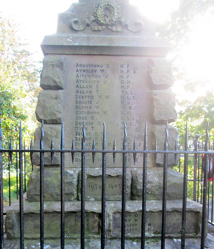 Names, War Memorial, Wooler
