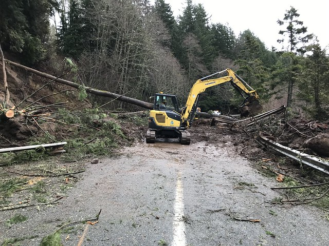 Clearing a third February slide on SR 410