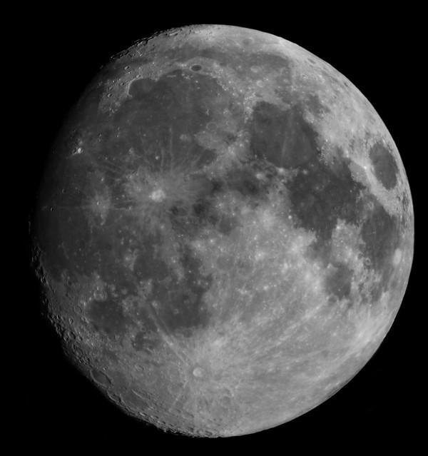 92% Waxing Gibbous Moon 17 Pane Mosaic 06/02/20