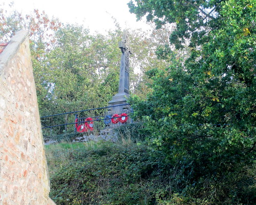 Wooler War Memorial from Road