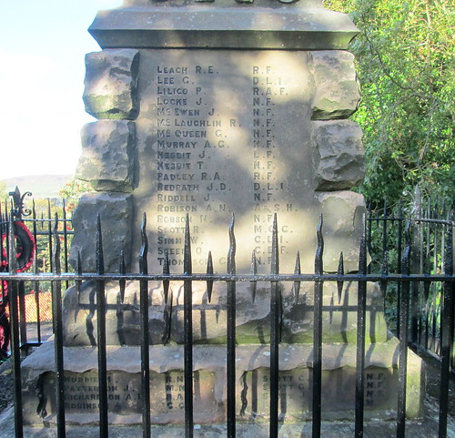 Names, Wooler War Memorial
