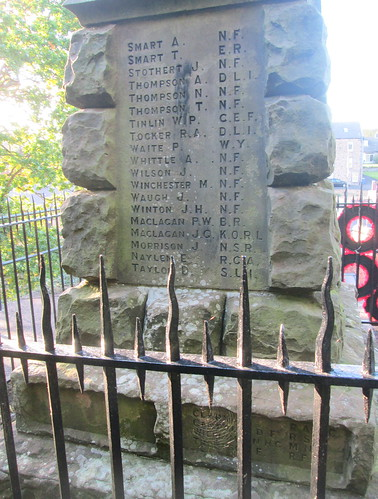 Wooler War Memorial Great War Names