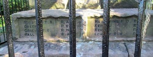 Wooler War Memorial, World War 2 Names