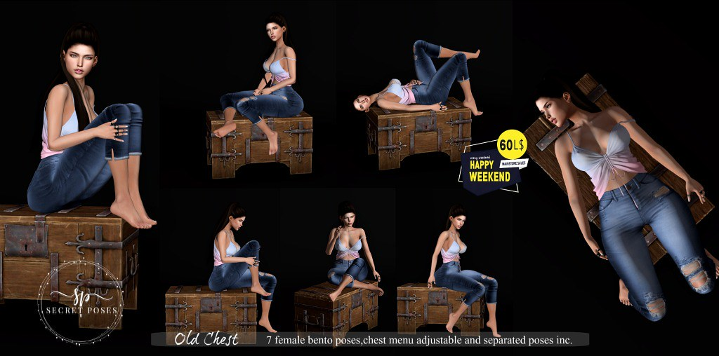 Secret Poses - Old Chest @ Happy Weekend